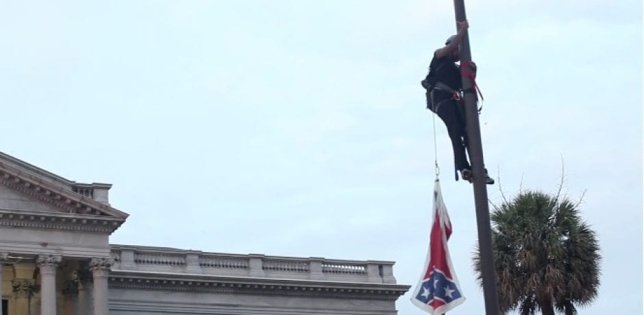 [VIDEO] PROTESTOR ARRESTED FOR REMOVING CONFEDERATE FLAG FROM SC CAPITOL: Look Who's Offering To Pay Her Bail