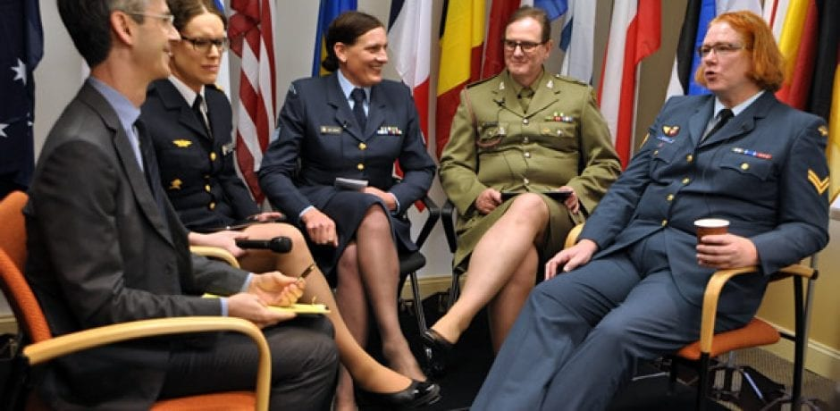 AIR FORCE WILL EASE POLICY ON DISCHARGING TRANSGENDERS