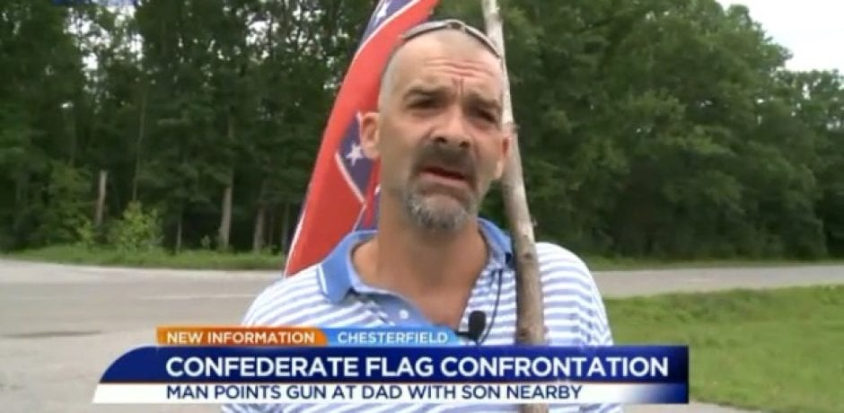 FAMILY THREATENED AT GUNPOINT FOR DISPLAYING CONFEDERATE FLAG ON PRIVATE PROPERTY…Police Let Suspect Go [Video]