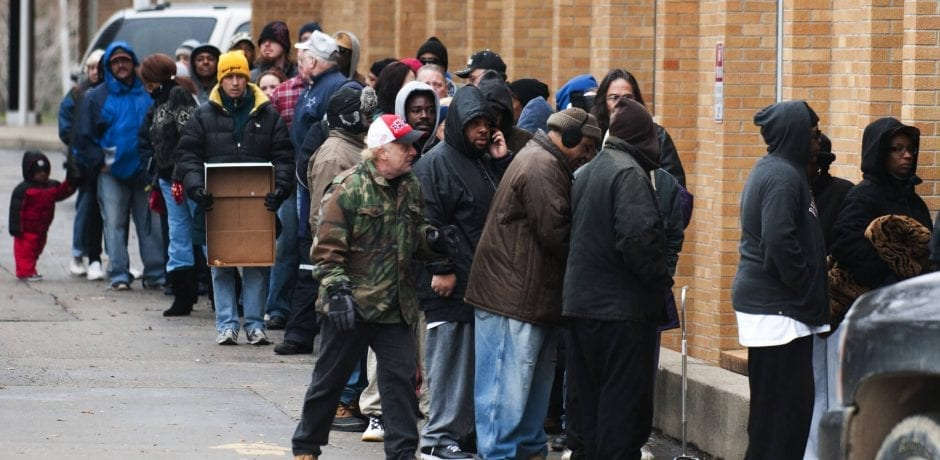WHAT RECOVERY? FOOD BANKS STRUGGLE TO KEEP UP WITH DEMAND