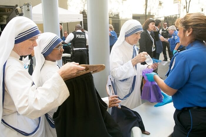 nuns searched