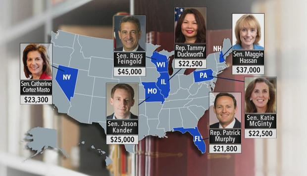 Thornton Law Firm donated to Democrats running in some of this year's most hotly contested races -- ones that could determine control of the U.S. Senate CBS NEWS