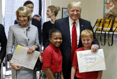 President Trump Travels to Orlando for Private School Visit Angering Teachers Unions: 'Shows hostility towards public schools'