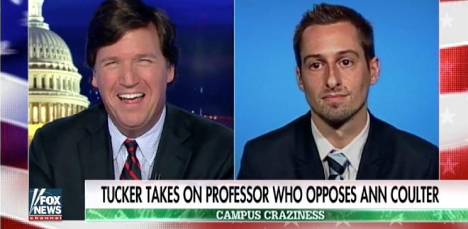 TUCKER CARLSON Embarrasses Colby Professor Who Says Colleges SHOULD Be Able To Shut Down Free Speech [VIDEO]