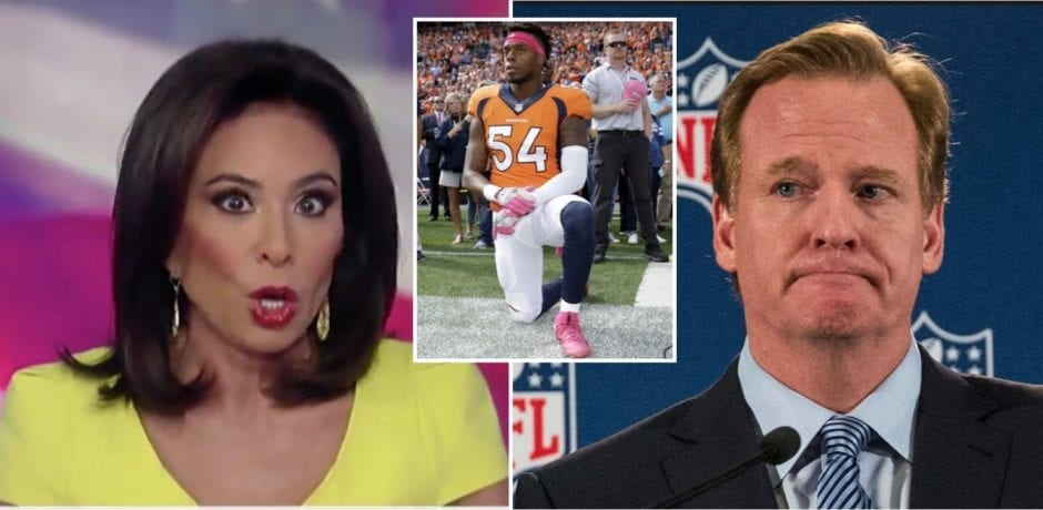 WATCH: JUDGE JEANINE Defends President Trump…DESTROYS NFL Commissioner Roger Goodell…DISRESPECTFUL and Violent NFL Players