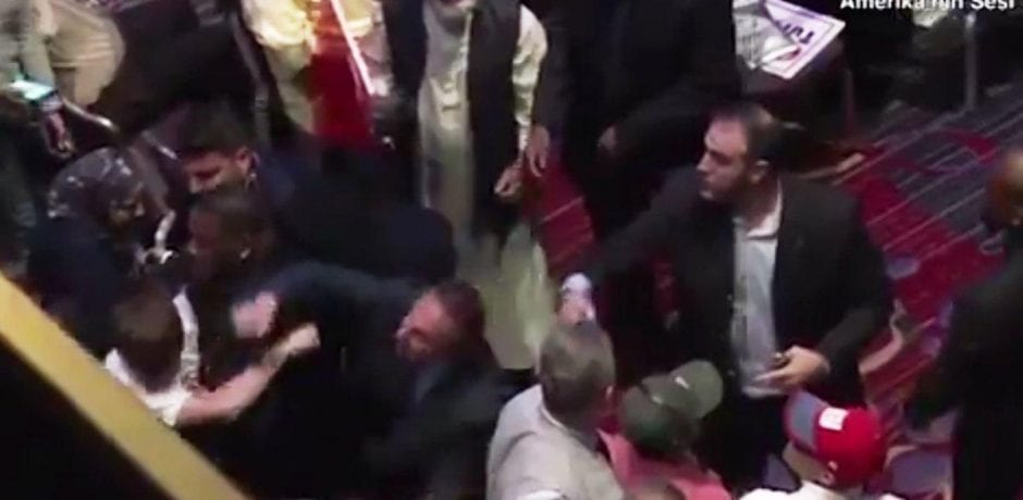 NYC: Turkish Thugs Beat Up Protesters…Deny Free Speech During Turkish President's Speech [Video]