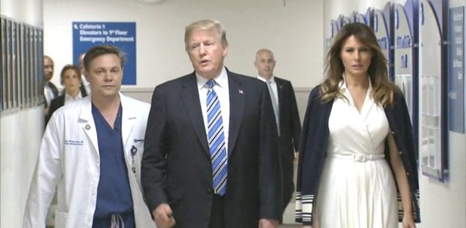 JUST IN: PRESIDENT TRUMP AND FIRST LADY Make Surprise Trip to Visit School Shooting Victims [Video]