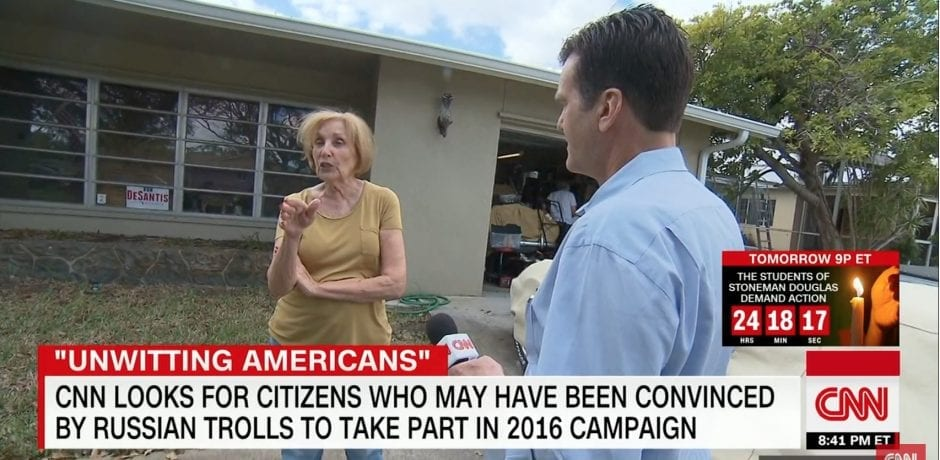 ELDERLY FLORIDA WOMAN Receives Multiple Threatening Remarks After CNN Tracks Her Down At Home…Shames and Humiliates Her For Organizing Rally On Pro-Trump Facebook Page