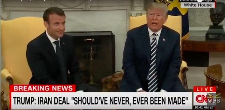 "PRICELESS! WATCH MACRON'S FACE After Trump Snaps Back At Reporter For Asking ""Stupid"" Question About Michael Cohen [Video]"