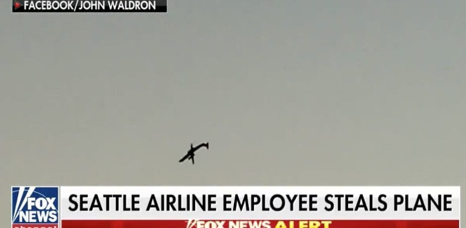 SEATTLE AIRPORT Employee HIJACKS 76-Seat Plane…Performs Stunts…Crashes In Ball Of Flames [VIDEO]