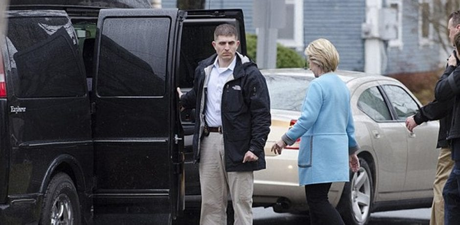 Hillary Clinton's Van Involved in Accident, Moment Of Crash Caught On Camera