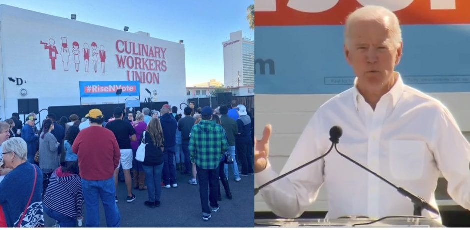 JUST IN: Small Crowd Of Mostly Union Members Show Up For Creepy Joe Biden's Rally In Las Vegas…Thousands Show Up For Trump Rally In Same State