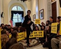 "JUST IN: Newly Elected Socialist Activist Jumps On Table Then Protests In Pelosi's Office: ""…We are busting down doors""  [Video]"