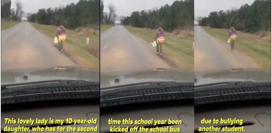 WATCH: FATHER MAKES 10-Yr-Old Daughter Walk 5 Miles To School In 36 Degree Weather After 2nd  Bullying Offense