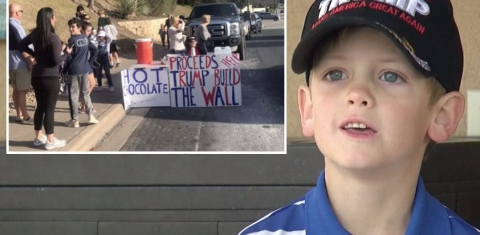 "WATCH: UNHINGED NEIGHBORS Call 7-Yr-Old Boy ""Little HITLER"" For Selling Hot Chocolate To Raise Money For Trump's Wall"