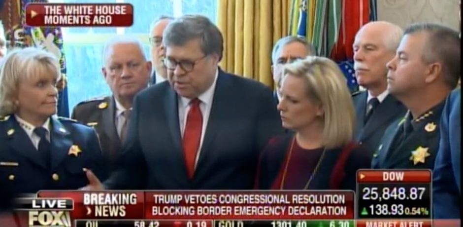 "BOOM! AG BARR Tells Trump Border Wall Emergency Declaration Is Authorized Under The Law…Crisis At Border Presents Real Clear and Present Danger"" [VIDEO]"