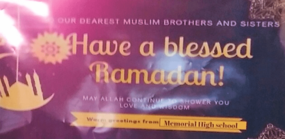 "NJ School Poster Triggers ""Cease and Desist"" Letter: ""May Allah Continue to Shower You With Love and Wisdom"""