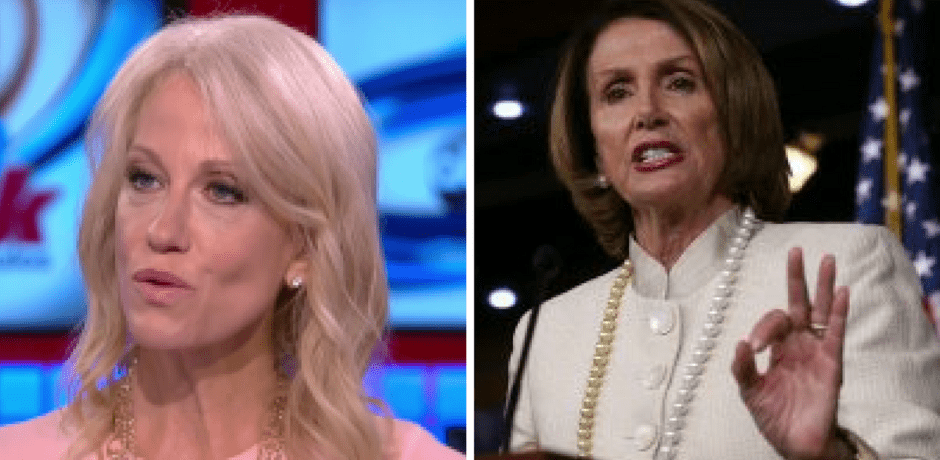 """JUST IN: Kellyanne Conway's Great Response to Pelosi's Snooty Claim That """"I'm responding to the president, not staff."""""""