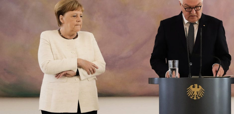 VIDEO: Germany's Angela Merkel Trembles Again During Public Ceremony