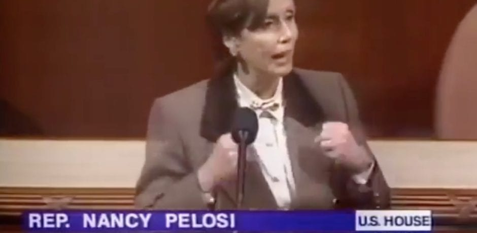 "LOL! TRUMP Tweets Classic Vintage Video Of HYPOCRITE Nancy Pelosi: ""We are here today because the Republicans in the House are paralyzed with hatred of President Clinton…Until the Republicans free themselves of their hatred, our country will suffer"""