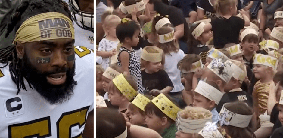 "Saints Player Surprises School Kids…Turns ""Man of God"" Headband Punishment Into Fundraiser"
