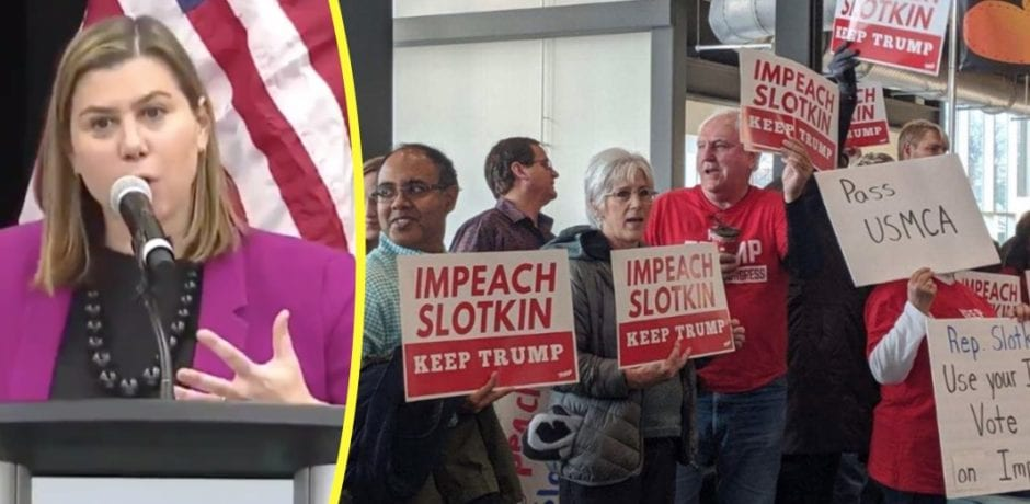 BREAKING: Radical Democrat Elissa Slotkin Gets Hammered At Michigan Town Hall Over Her Support For Trump Impeachment