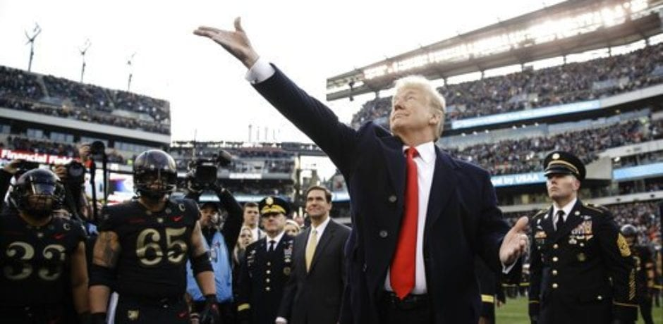 President Trump Receives Rousing Welcome at 120th Army vs. Navy Game