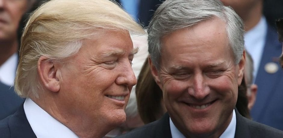 """Mark Meadows Revealed As """"Anonymous"""" Source That Contradicted White House Physician's Positive Report On Trump's Health Condition"""