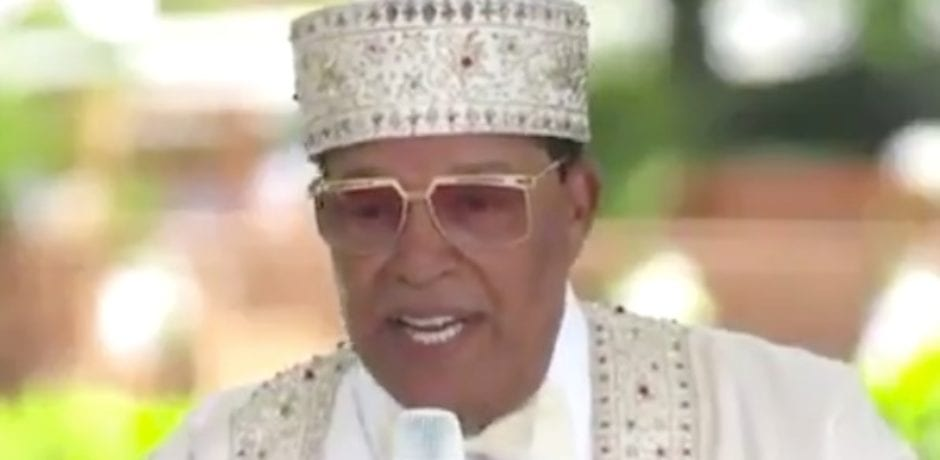 "Nation of Islam's Farrakahn Delivers Anti-White Speech Full of Venom: ""We can't trust you no more white folks. Not with our lives!"""