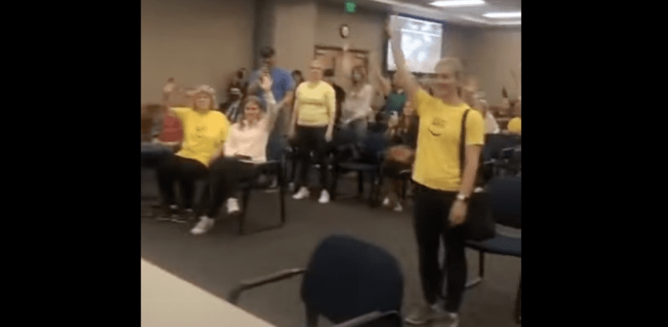 """Video: Fed Up Parents Yell """"No More Masks!""""...Take Over School Board Meeting as Board Members Escape Out the Back"""