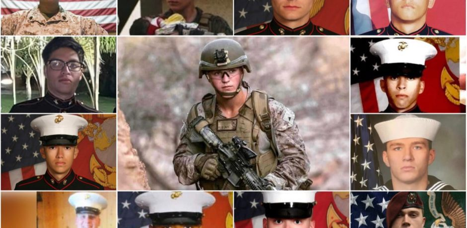 """Amazing Tribute to America's 13 Fallen Service Members...""""We will never forget these heroes."""""""