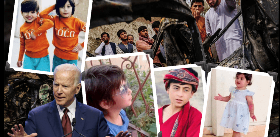 Tough Guy Biden's Airstrike Actually Killed a US Aid Worker Who Fed Hungry Afghans, and His 7 Beautiful Children