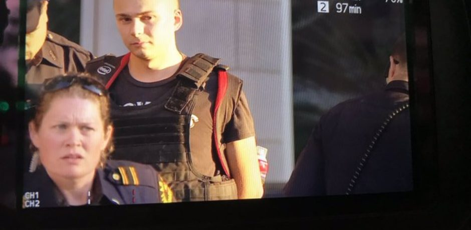 BREAKING: MAN ARRESTED Outside Dallas Trump Rally Wearing Vest With Gun And Aerosol Can Inside Backpack [VIDEO]